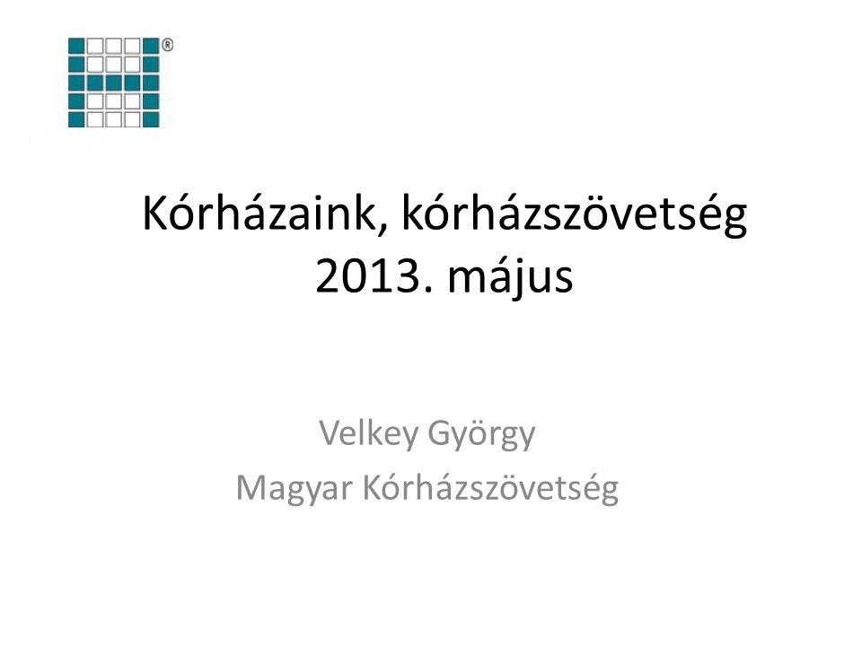 Kórházaink, kórházszövetség 2013. május Velkey György Magyar Kórházszövetség