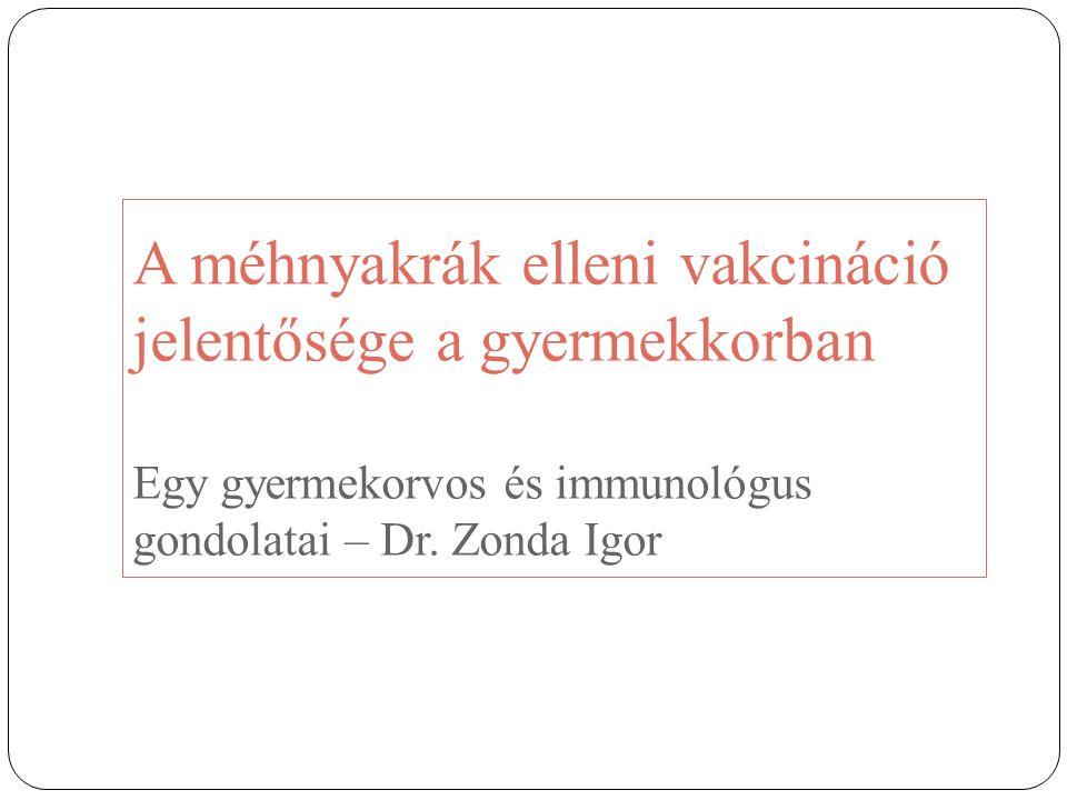 A méhnyakrák elleni vakcináció jelentősége a gyermekkorban Egy gyermekorvos és immunológus gondolatai – Dr. Zonda Igor