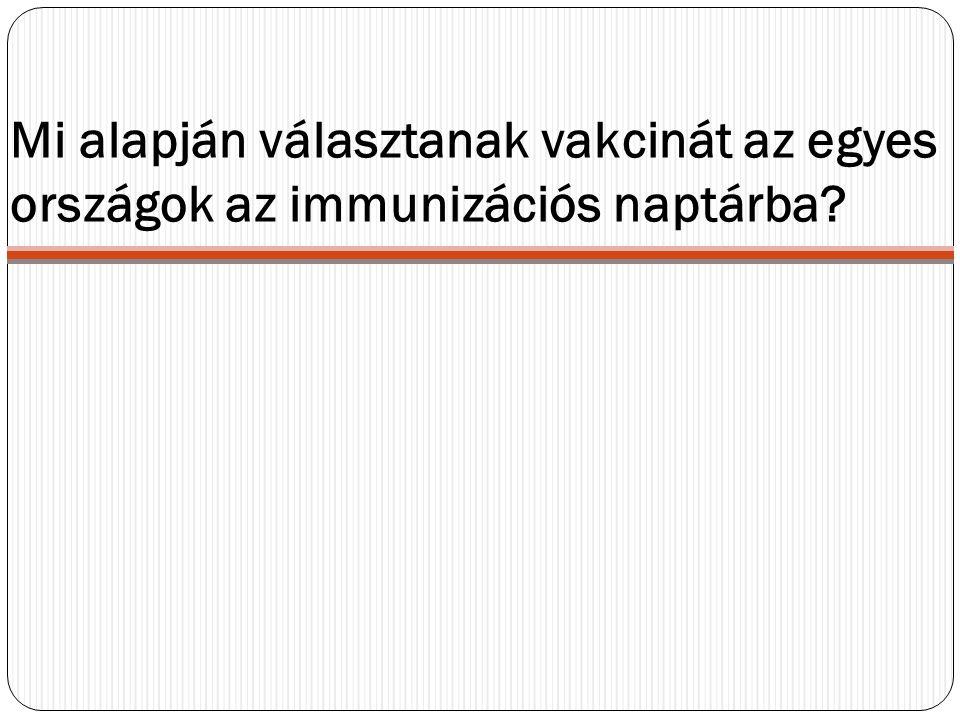 Mi alapján választanak vakcinát az egyes országok az immunizációs naptárba?