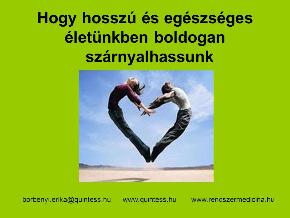Hogy hosszú és egészséges életünkben boldogan szárnyalhassunk www.quintess.huwww.rendszermedicina.huborbenyi.erika@quintess.hu