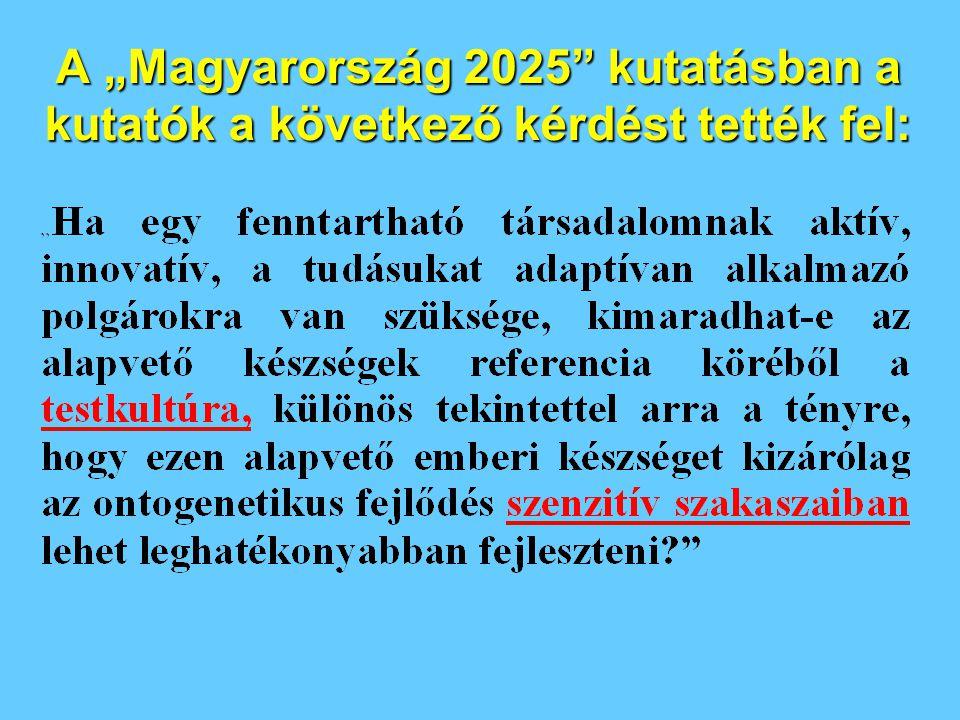 """A """"Magyarország 2025"""" kutatásban a kutatók a következő kérdést tették fel:"""