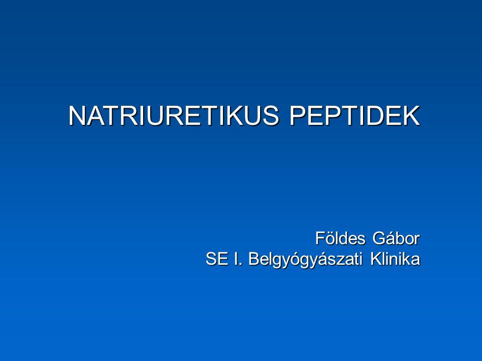 Kirsch (1956): pitvari intracelluláris granulumok Henry & Pearce (1956): pitvari feszítés diuresist okoz de Bold (1981, Life Sciences 28:89-94): homogenizált patkány pitvari extraktum natriuresist okoz