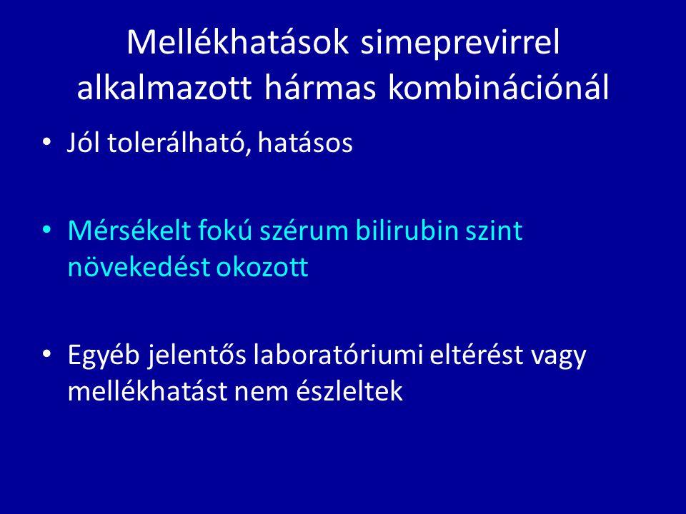Jól tolerálható, hatásos Mérsékelt fokú szérum bilirubin szint növekedést okozott Egyéb jelentős laboratóriumi eltérést vagy mellékhatást nem észlelte