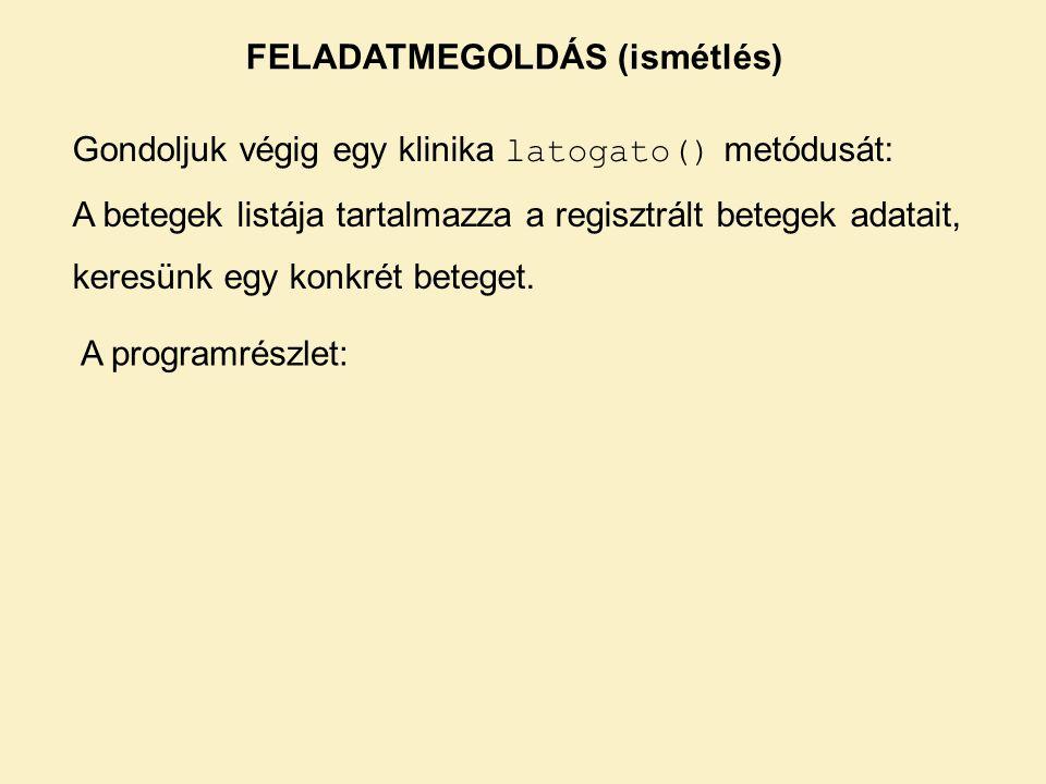 Első változat: A lista = getTantargyak() lista módosítható, de a getTantargyak() hívás eredménye mindig az eredeti lista.
