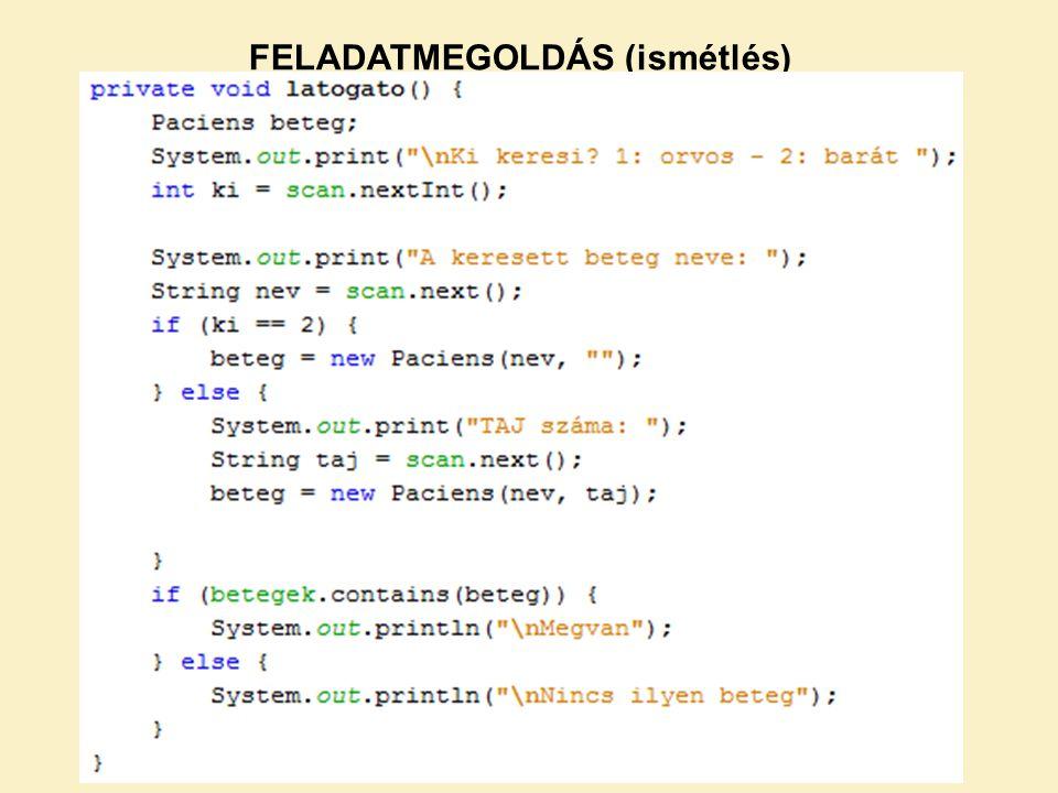 Biztos, hogy megtalálja.Csak akkor, ha a Paciens osztályban van equals() és hashcode() metódus.