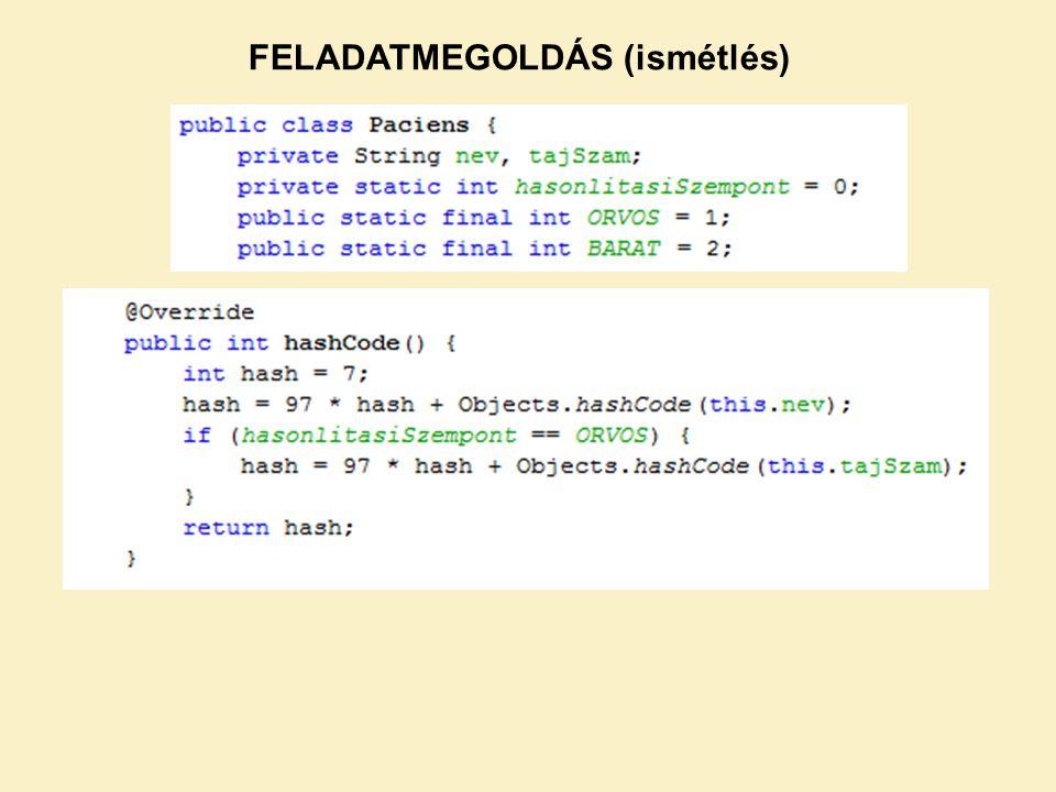 Enumerátor: Az enum fix konstans értékek létrehozására használható.