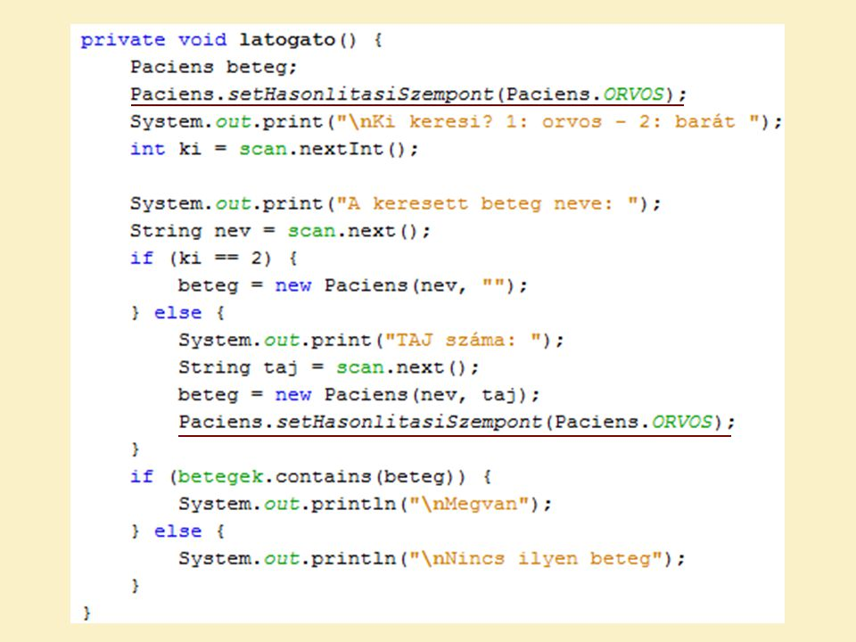 JAVA – GENERIKUSOK A generikus lehetőséget ad osztályok más típussal való paraméterezésére.