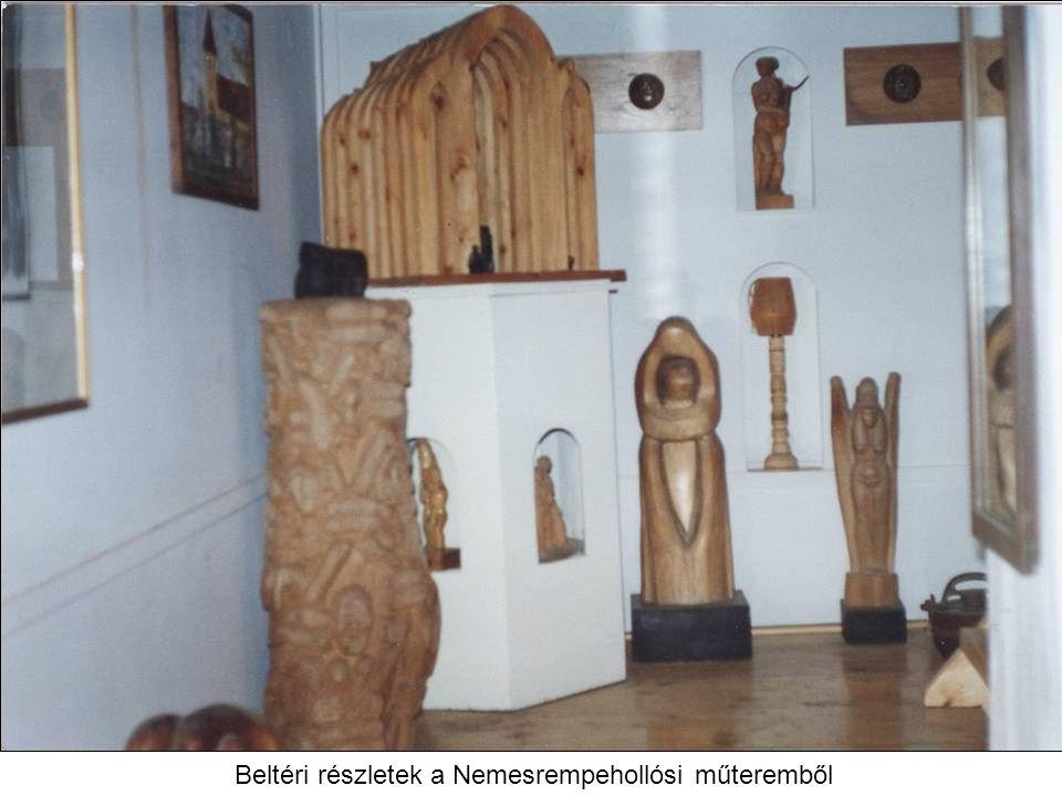 Beltéri részletek a Nemesrempehollósi műteremből