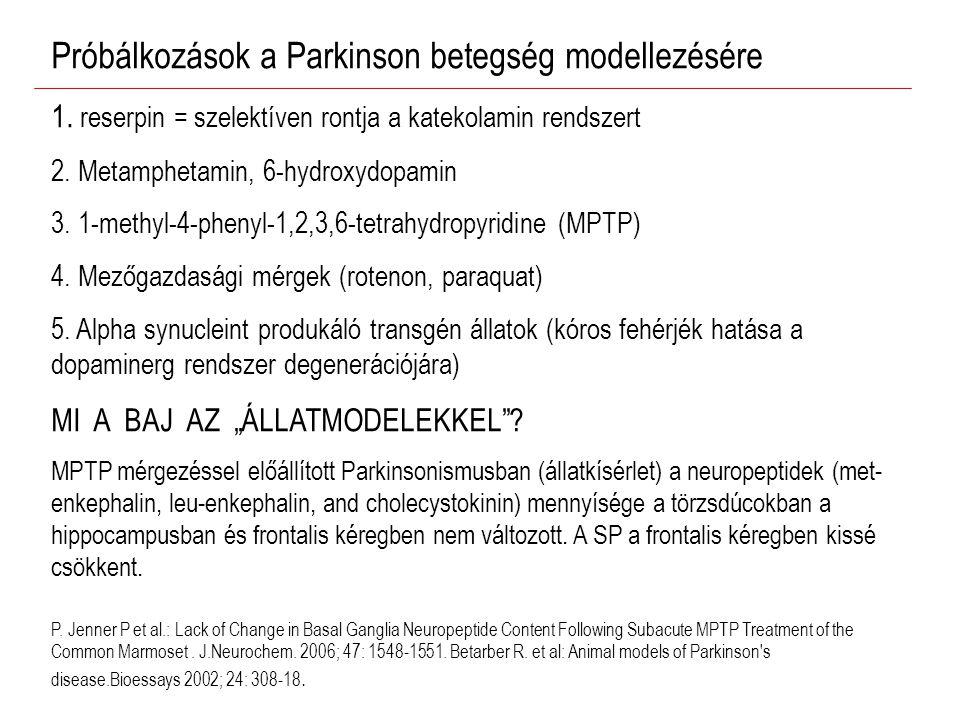 Próbálkozások a Parkinson betegség modellezésére 1.