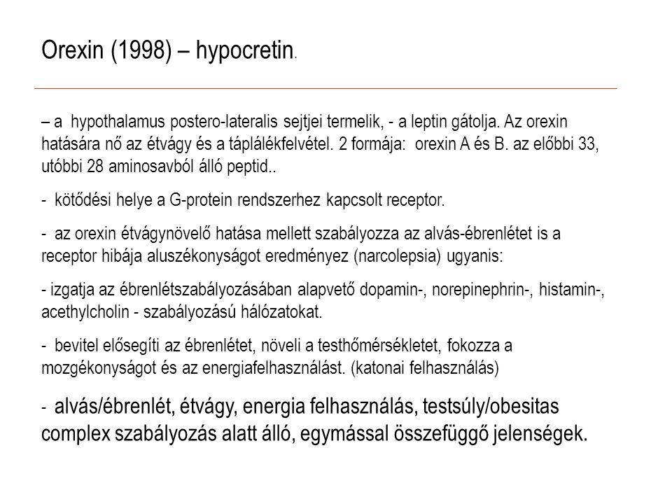 Orexin (1998) – hypocretin.