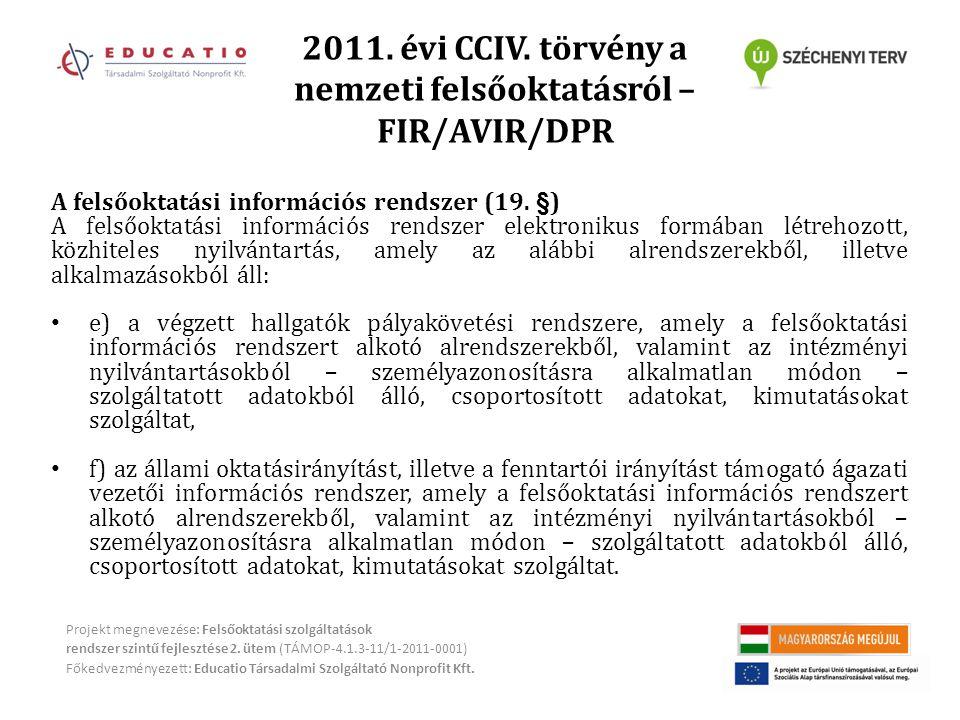 2011.évi CCIV.