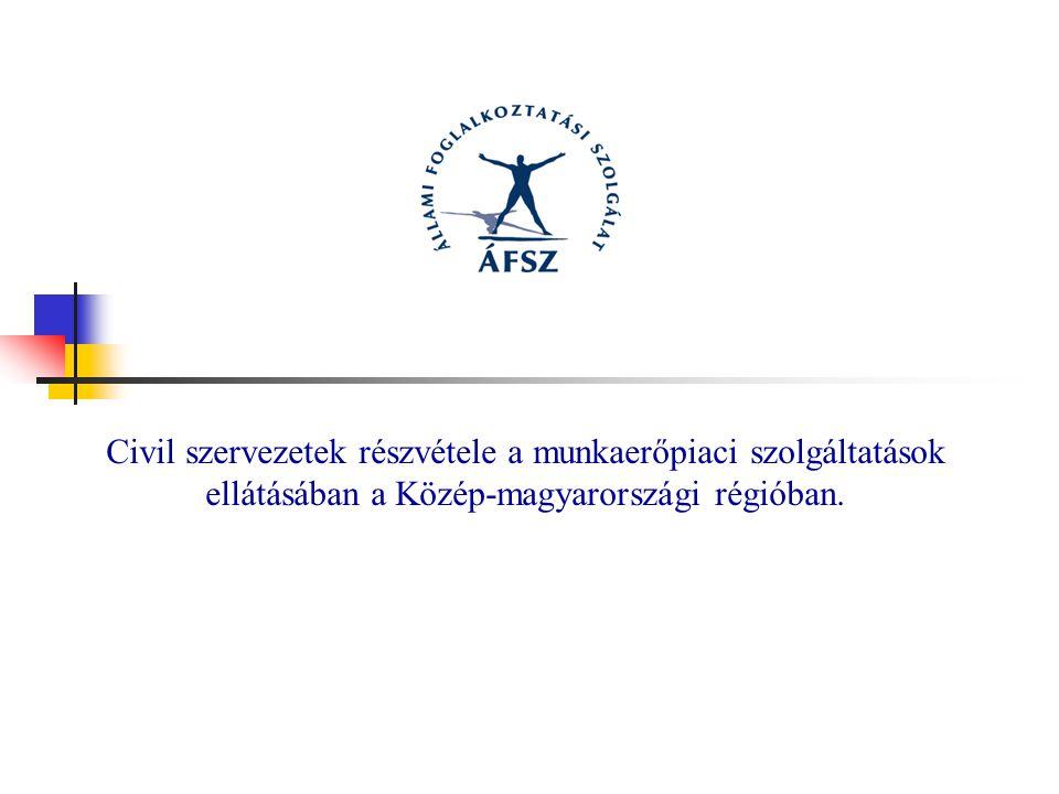 Civil szervezetek részvétele a munkaerőpiaci szolgáltatások ellátásában a Közép-magyarországi régióban.
