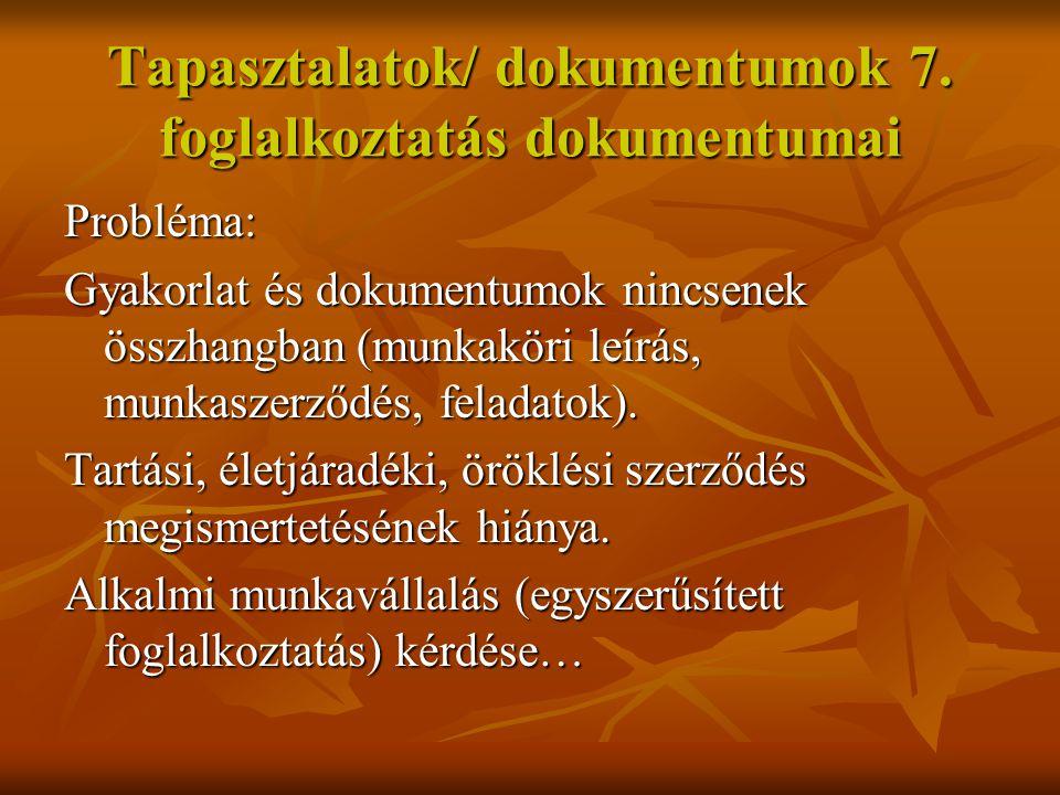 Tapasztalatok/ dokumentumok 8.térítési díj/1.