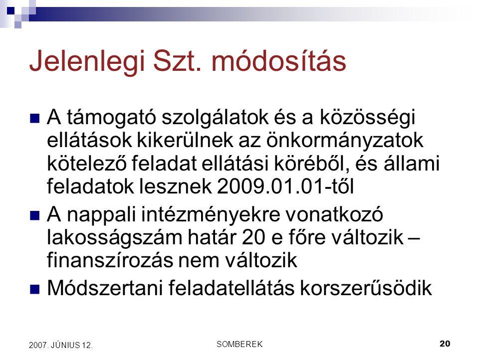 SOMBEREK20 2007. JÚNIUS 12. Jelenlegi Szt.