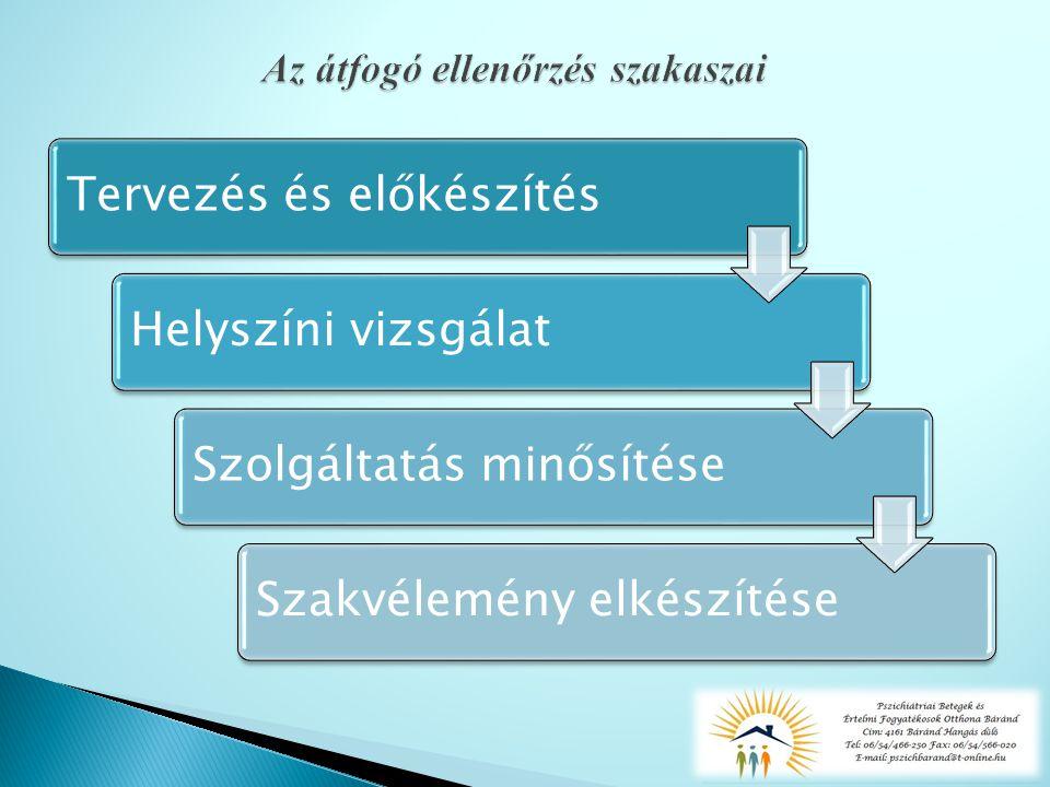 Tervezés és előkészítésHelyszíni vizsgálatSzolgáltatás minősítéseSzakvélemény elkészítése