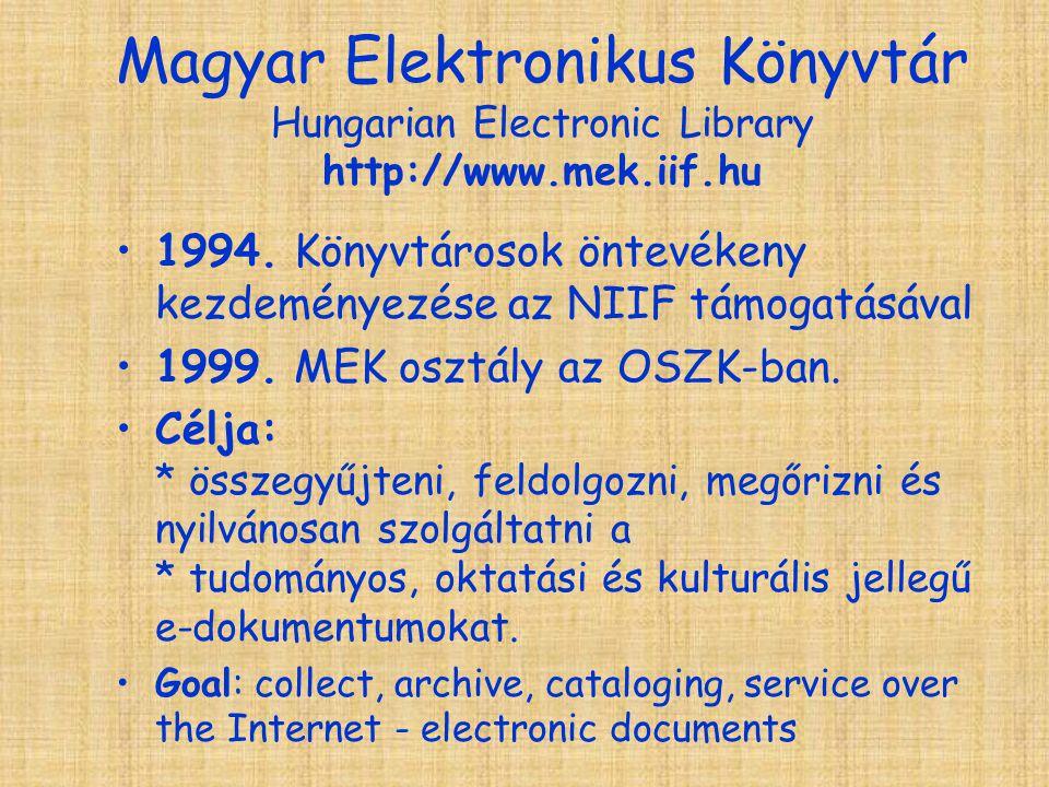 Magyar Elektronikus Könyvtár Hungarian Electronic Library http://www.mek.iif.hu 1994.
