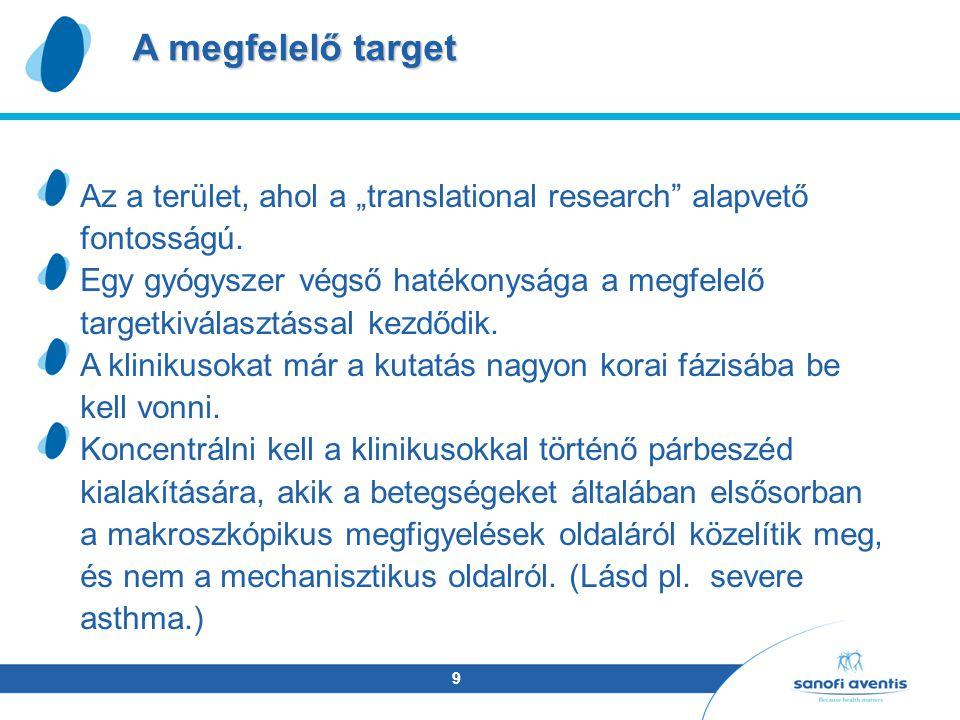 """9 Az a terület, ahol a """"translational research alapvető fontosságú."""