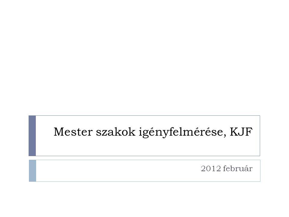 Mester szakok igényfelmérése, KJF 2012 február