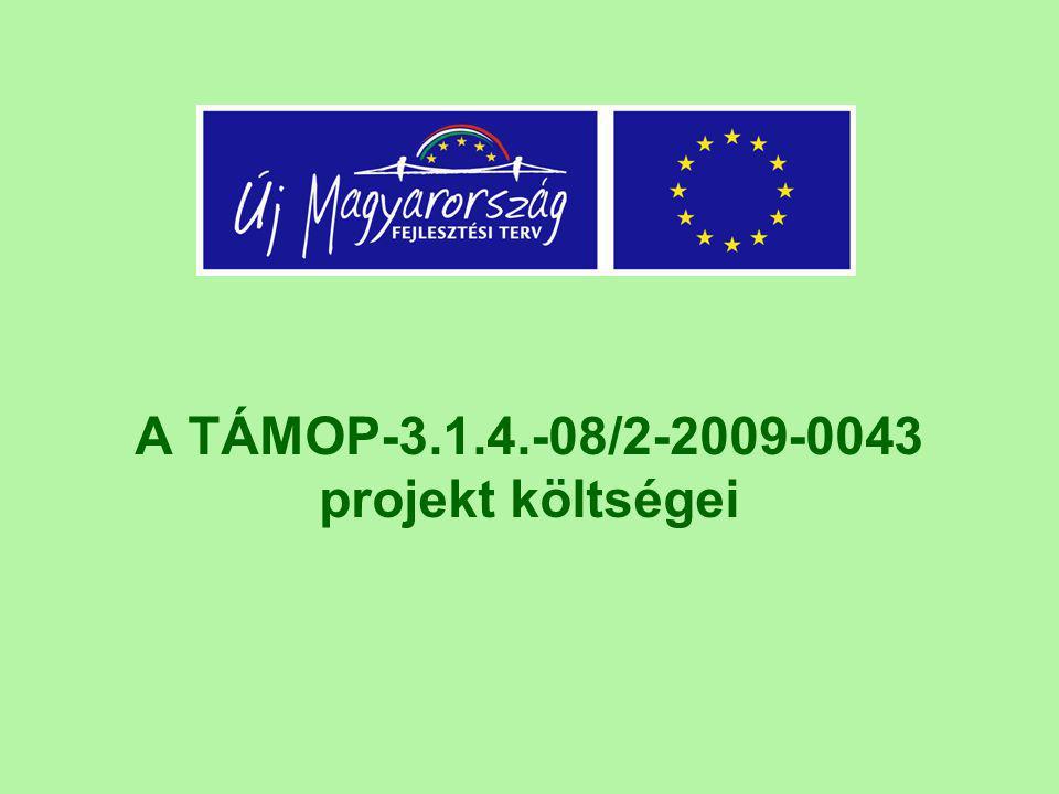 A TÁMOP-3.1.4.-08/2-2009-0043 projekt költségei