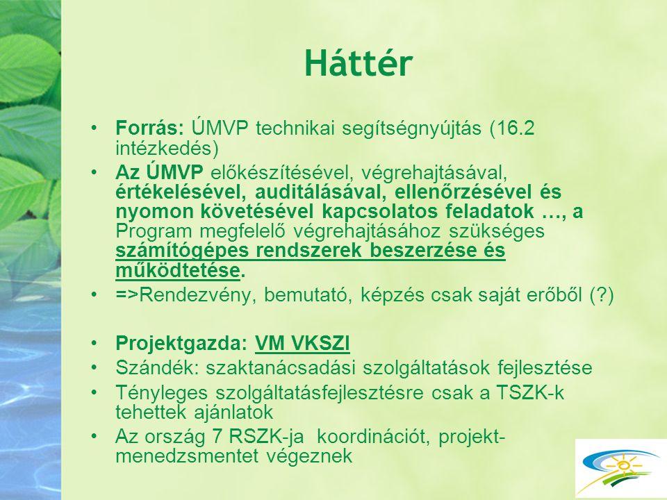 Előkészítés Projektfelhívás TSZK és RSZK-k számára 2011 elején (egyéni ajánlatokra vonatkozóan) RSZK értekezlet – szándéknyilatkozat az ajánlatok összehangolására.
