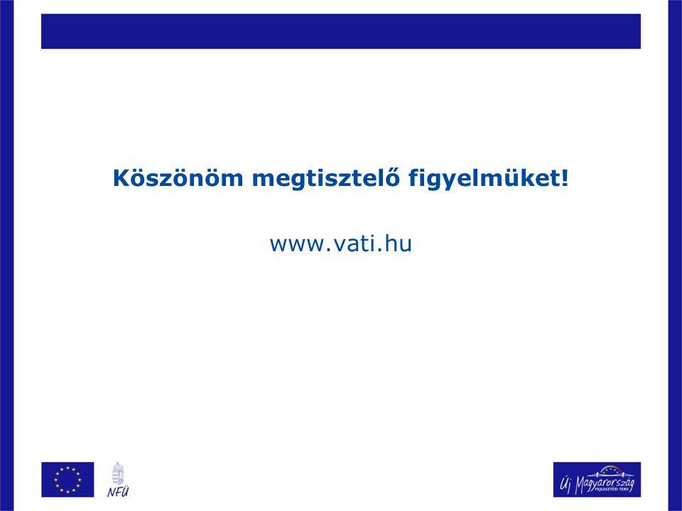 Köszönöm megtisztelő figyelmüket! www.vati.hu