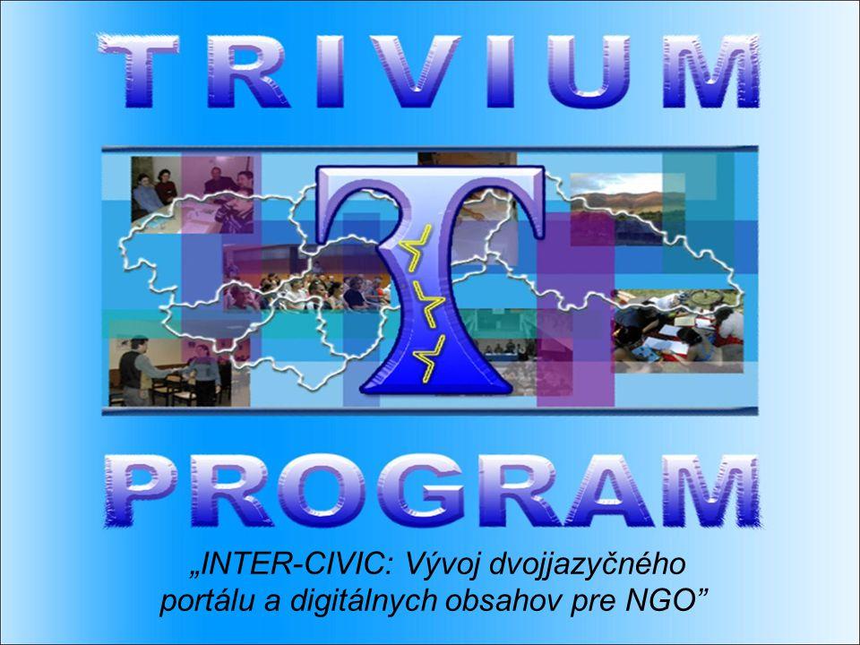 """""""INTER-CIVIC: Vývoj dvojjazyčného portálu a digitálnych obsahov pre NGO"""