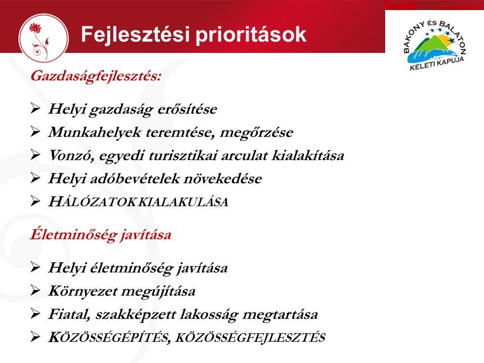 Fejlesztési prioritások I.