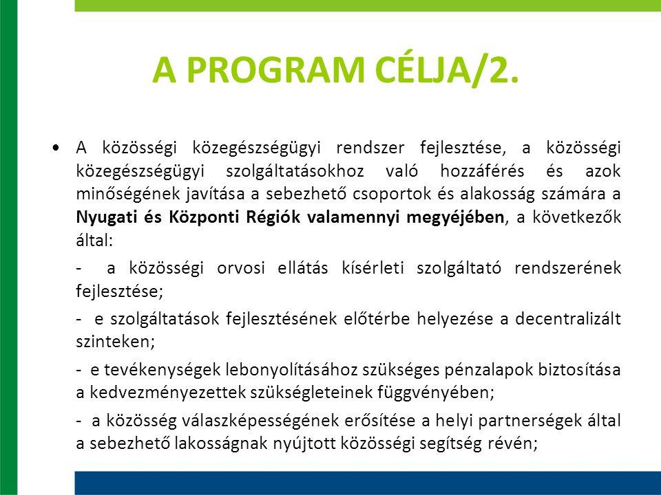 A PROGRAM CÉLJA/3.