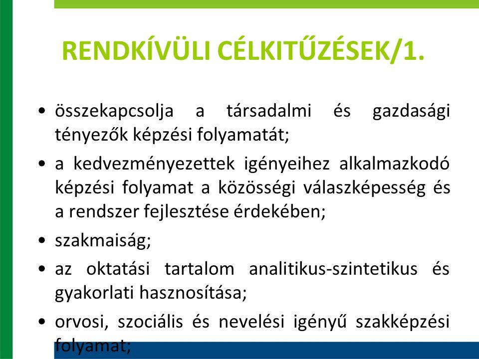 RENDKÍVÜLI CÉLKITŰZÉSEK/1.