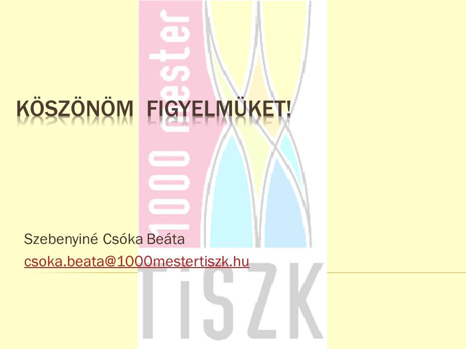 Szebenyiné Csóka Beáta csoka.beata@1000mestertiszk.hu