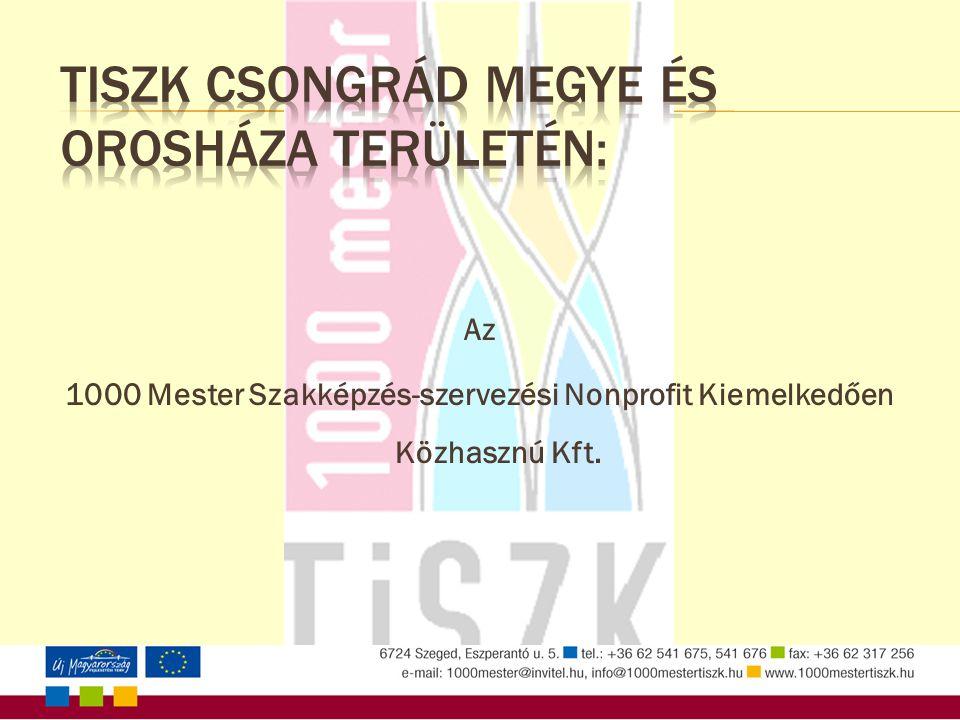 Az 1000 Mester Szakképzés-szervezési Nonprofit Kiemelkedően Közhasznú Kft.