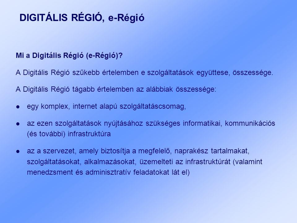 DIGITÁLIS RÉGIÓ, e-Régió Mi a Digitális Régió (e-Régió).