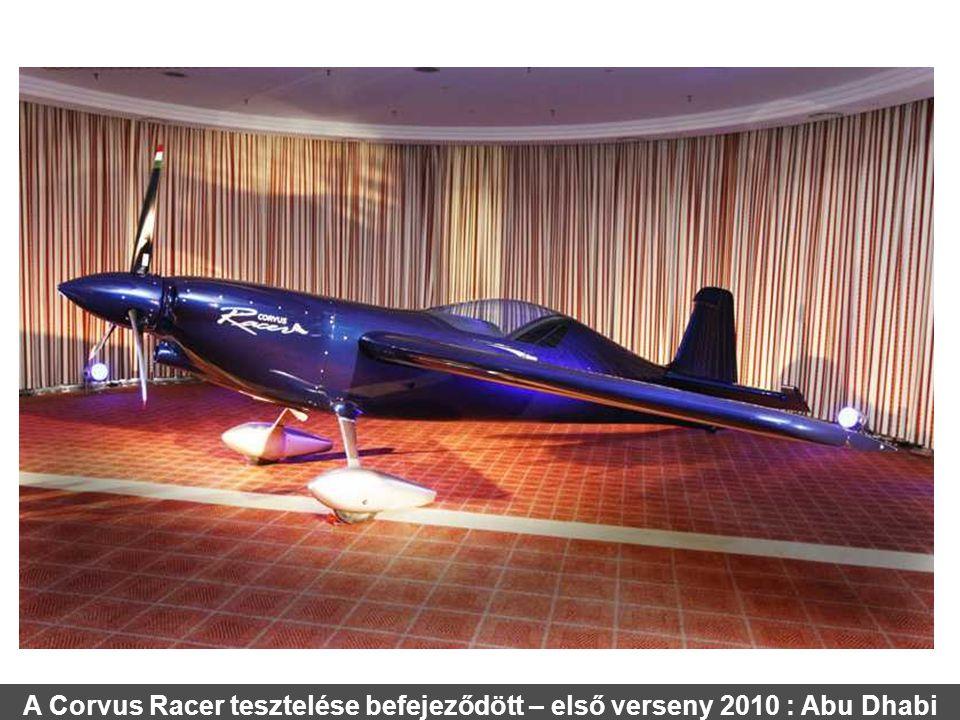 A Corvus Racer tesztelése befejeződött – első verseny 2010 : Abu Dhabi