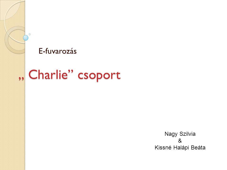 """"""" Charlie"""" csoport E-fuvarozás Nagy Szilvia & Kissné Halápi Beáta"""