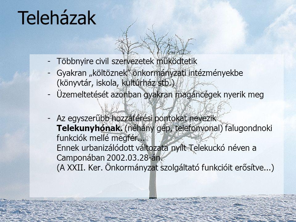 -A program itthon a könyvtári szolgáltatások kiegészítésével indult (skandináv mintára) -A gyakorlat azzal egészítette ki, hogy a településnek sajátjá