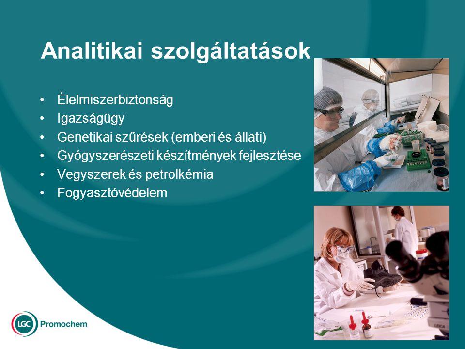 Analitikai szolgáltatások Élelmiszerbiztonság Igazságügy Genetikai szűrések (emberi és állati) Gyógyszerészeti készítmények fejlesztése Vegyszerek és petrolkémia Fogyasztóvédelem