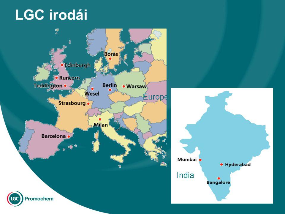 LGC irodái India Europe