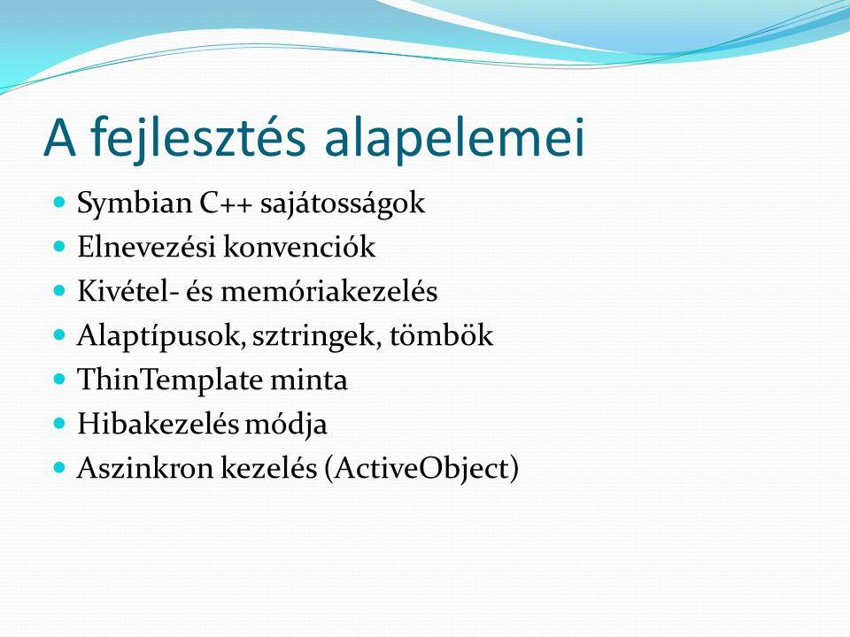 Osztálytípusok - összefoglalás T: egyszerű típus; nincs destruktora; csak T-ből, vagy M-ből öröklődhet; értékként átadható; stack-en tárolható C: csak a heapen foglalható; van destruktora; pontosan egy C és tetszőleges M osztályból származhat; nem adható át értékként M: interfész; csak virtuális metódusok; nincsenek tagváltozók; nem példányosítható R: erőforrás, melyet meg kell nyitni és be kell zárni