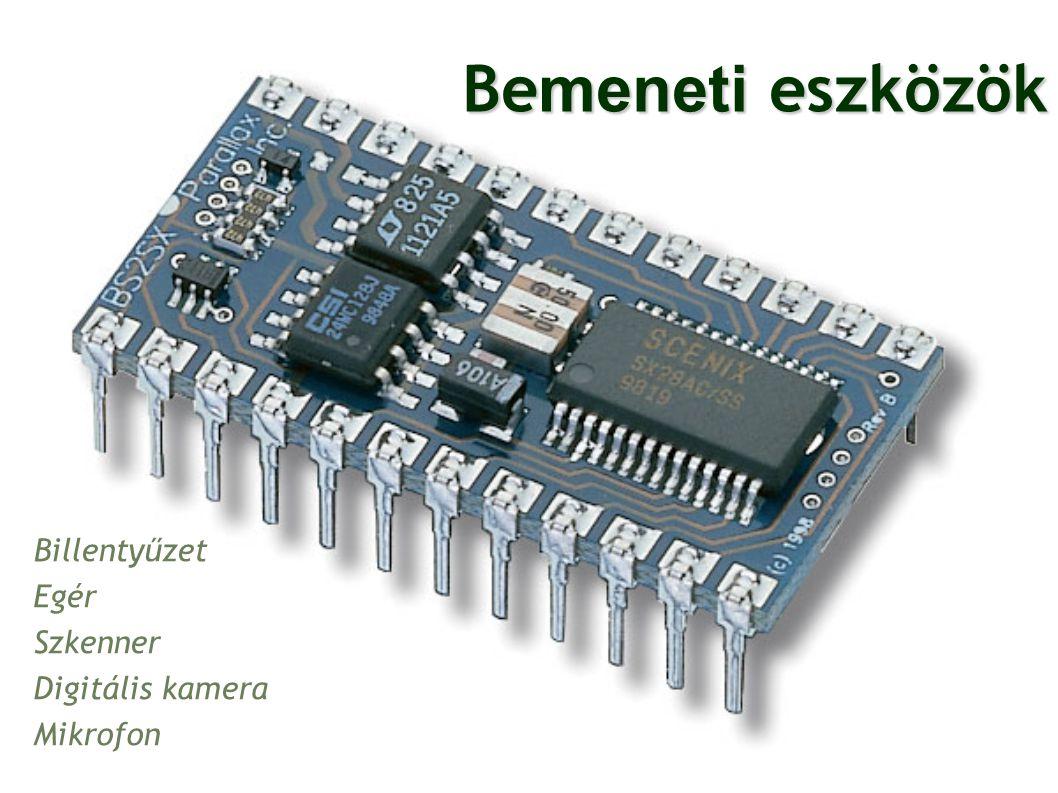 Be meneti eszközök Billentyűzet Egér Szkenner Digitális kamera Mikrofon 16