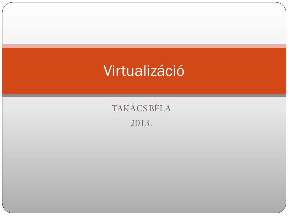 TAKÁCS BÉLA 2013. Virtualizáció