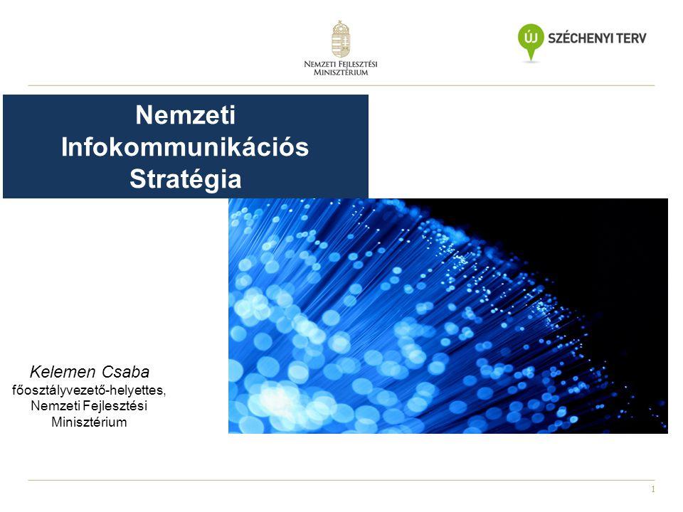 2 Állami hálózatok fejlesztése, konszolidációja Piaci szélessáv- fejlesztések ösztönzése Spektrumpolitika Állami hálózatok fejlesztése, konszolidációja Piaci szélessáv- fejlesztések ösztönzése Spektrumpolitika Eszköz-ellátottság biztosítása Online szolgáltatások fejlesztése Kormányzati folyamatok támogatása Eszköz-ellátottság biztosítása Online szolgáltatások fejlesztése Kormányzati folyamatok támogatása Digitális írástudás fejlesztése Informatika oktatás Informatika- és mérnökképzés támogatása Digitális írástudás fejlesztése Informatika oktatás Informatika- és mérnökképzés támogatása KKV-k működésének hatékonyabbá tétele Vállalkozások informatizáltságának növelése IKT exportösztönzés Start-up vállalkozások támogatása Innováció KKV-k működésének hatékonyabbá tétele Vállalkozások informatizáltságának növelése IKT exportösztönzés Start-up vállalkozások támogatása Innováció Gazdaság- fejlesztés Állam- polgárok ismeretének növelése Kormányzati IT Szélessávú infra- struktúra A Z ÁLLAMTITKÁRSÁG 4 FŐ TERÜLETRE FÓKUSZÁL
