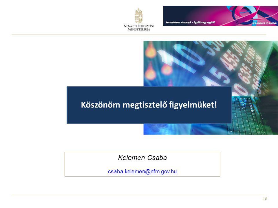 16 Kelemen Csaba csaba.kelemen@nfm.gov.hu Köszönöm megtisztelő figyelmüket!
