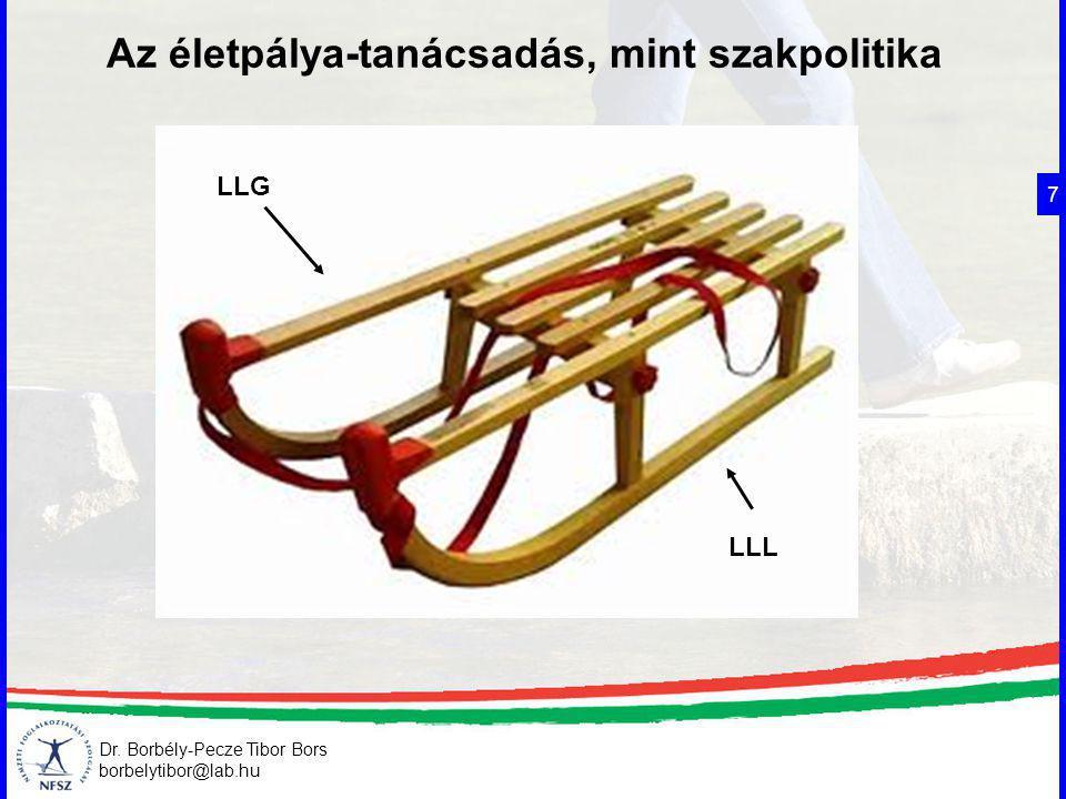 Dr. Borbély-Pecze Tibor Bors borbelytibor@lab.hu Az életpálya-tanácsadás, mint szakpolitika 7 LLL LLG