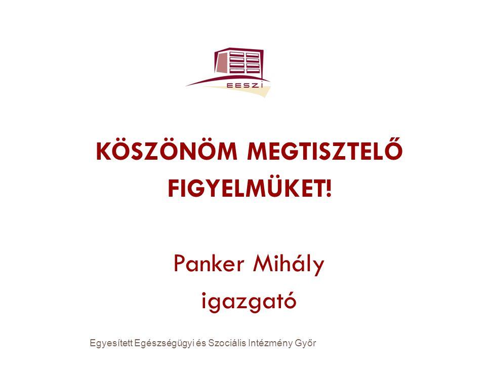 KÖSZÖNÖM MEGTISZTELŐ FIGYELMÜKET! Panker Mihály igazgató Egyesített Egészségügyi és Szociális Intézmény Győr