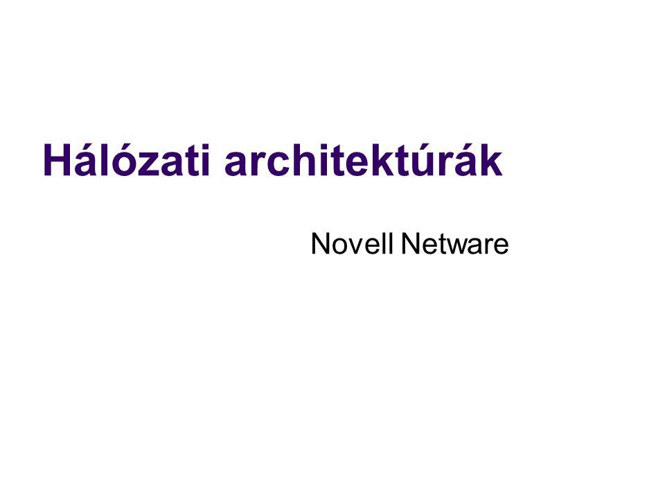 Hálózati architektúrák Novell Netware