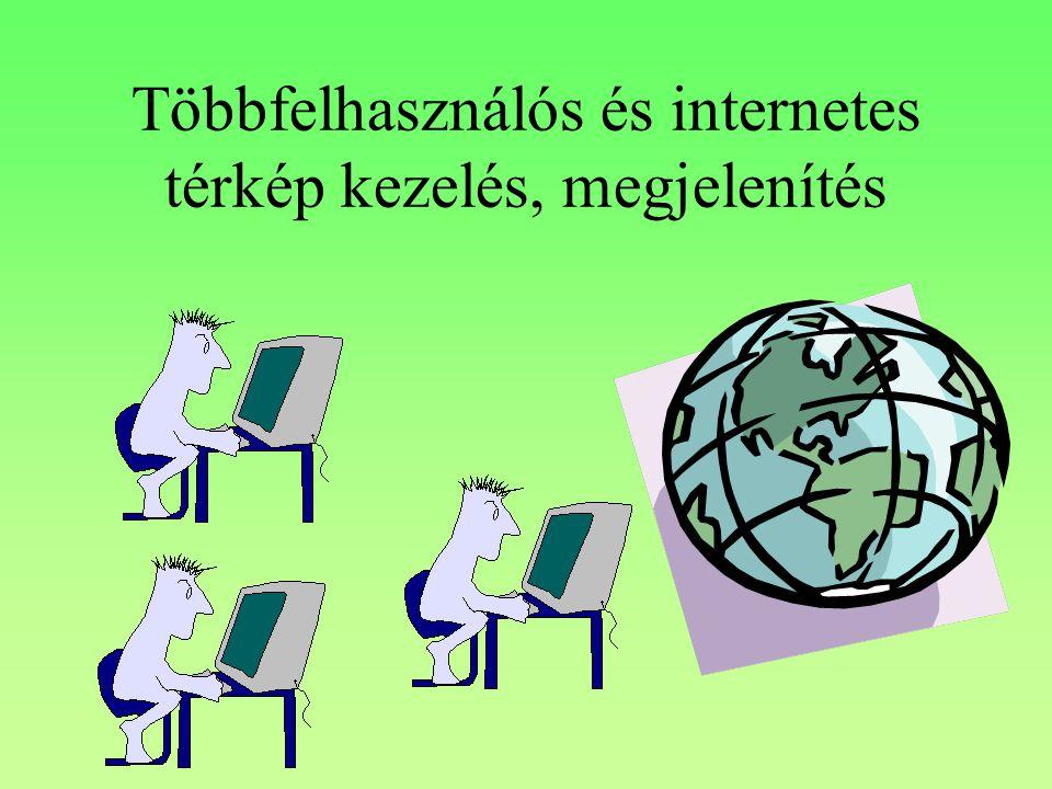 Többfelhasználós és internetes térkép kezelés, megjelenítés