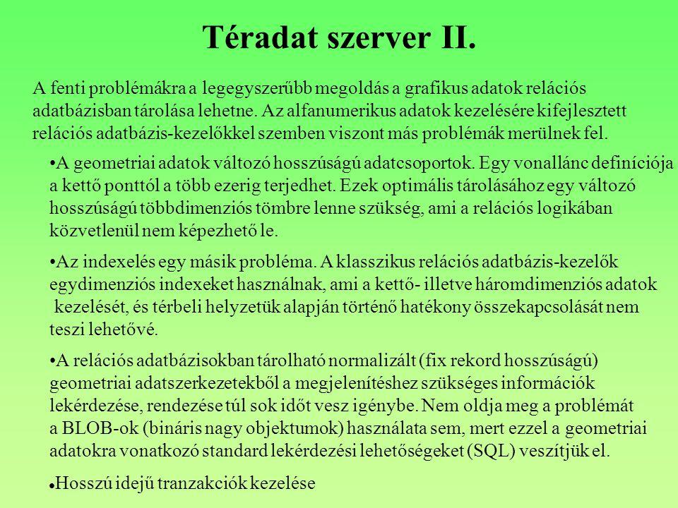 Téradat szerver II.