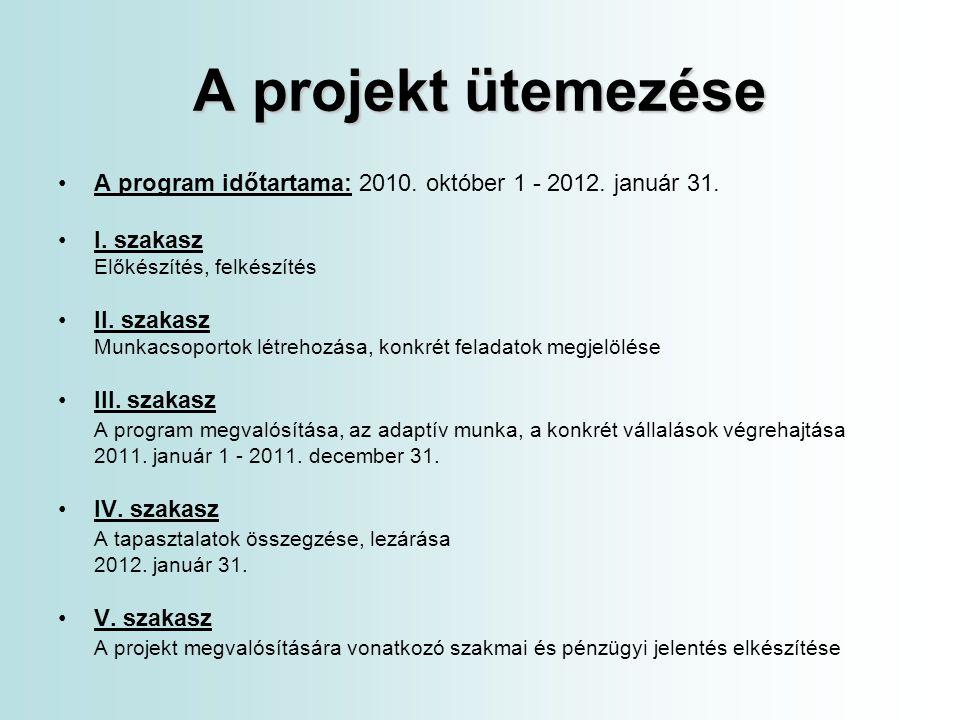 A projekt költségvetése I.