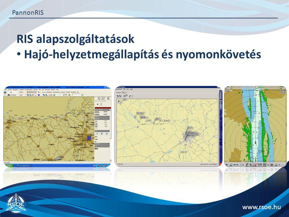 RIS alapszolgáltatások Hajó-helyzetmegállapítás és nyomonkövetés www.rsoe.hu PannonRIS