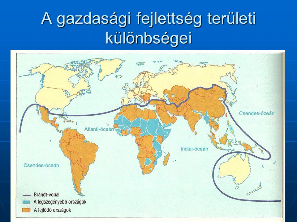 A gazdasági fejlettség területi különbségei